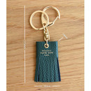 Size of Holiday cowhide leather tassel key ring