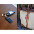 Holiday cowhide leather tassel key ring