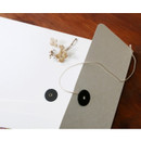 Square A4 Kraft paper photo frame with envelope
