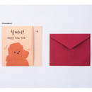 Grandma - Happy new year dog family card with envelope