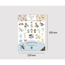Size - Diary deco sticker 9 sheets in one set ver8