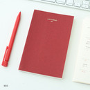 Red - Life and pieces simple idea plain notebook