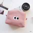 Pink - Som Som stitch cosmetic makeup zipper pouch