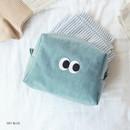 Sky blue - Som Som stitch cosmetic makeup zipper pouch