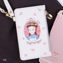 Pink - Anne of green gables zip flat card case with strap