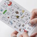 PONYBROWN Buhabear cute illustration paper sticker