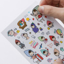 PONYBROWN My little friend cute illustration paper sticker