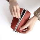 ICONIC Plain cosmetic makeup medium zipper pouch