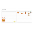 Free note - Jetoy Choo choo cat fruits undated weekly diary planner