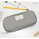 Ash gray - Donbook Wish another plain multi zip around large pouch