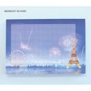 Midnight in paris - Pleple My story illustration wide squared manuscript memo notepad