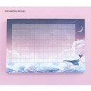 Dreaming whale - Pleple My story illustration wide squared manuscript memo notepad