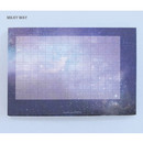 Milky way - Pleple My story illustration wide squared manuscript memo notepad