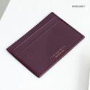 Burgundy - ICONIC Un jour de chance flat card case holder
