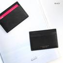 Black - ICONIC Un jour de chance flat card case holder