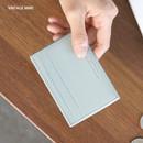 Vintage mint - ICONIC Un jour de chance flat card case holder