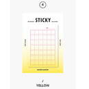 Yellow - Second Mansion Gradation squared manuscript sticky it memo note