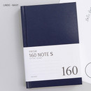 Navy - Indigo Prism 160 pages small lined grid notebook