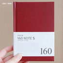 Wine - Indigo Prism 160 pages small lined grid notebook