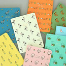 Jam Jam illustration small plain and lined notebook