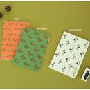 Fox / Squirrel / Albatross - Livework Jam Jam illustration small plain and lined notebook
