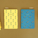 Pencil / Donkey - Livework Jam Jam illustration small plain and lined notebook