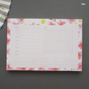 Pink - Hello Today A planner on a desk undated weekly scheduler notepad