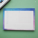 A - Hello Today Universe on a desk undated weekly planner notepad