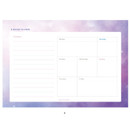 B - Hello Today Universe on a desk undated weekly planner notepad