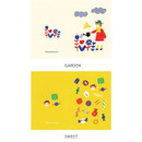 Option - Hello Today Sunshine blanket small plain and lined notebook