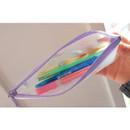 Violet - N.IVY Buri clear zip lock multi pouch