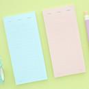 Memory planning notepad - checklist