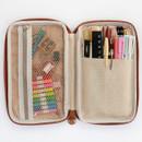 Indigo Classic story illustration zip around pencil case pouch