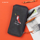 Red fox - Wanna This Tailorbird half zip around slim multi pouch