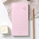 Pink gray - Dash and Dot My checklist notepad