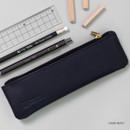 Dark navy - Dash and Dot Slim and modern zipper pencil case