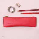 Red - Dash and Dot Slim and modern zipper pencil case