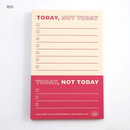 Red - Good habits Today not today to do list notepad
