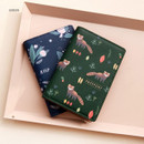 Green - Rim with you pattern passport cover case holder