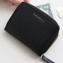 Black - Think about accordion zip around card wallet