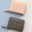 Pink, Gray - Think about accordion zip around card wallet