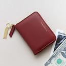 Burgundy - Think about accordion zip around card wallet