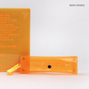 Neon orange - Wanna This Clear pocket folding pencil case pouch