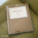 Light brown - Shinzikatoh Moment of my life white self adhesive photo album