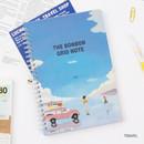 Travel - Wanna This The Bon Bon illustration spiral grid notebook