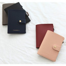Think about W passport case wallet with zipper pocket