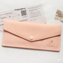 Pink - Think about W soft envelope passport case