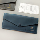 Navy - Think about W soft envelope passport case