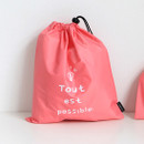 Pink - Think about W large drawstring pouch