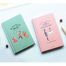 Bookfriends World literature hardcover lined notebook